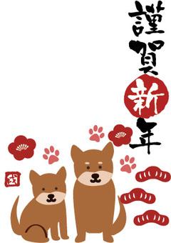 Dog postcard