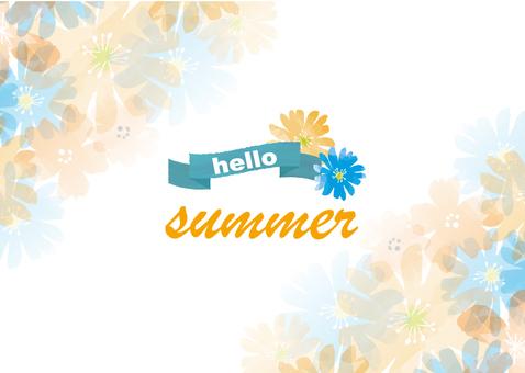 여름 배경 소재 2