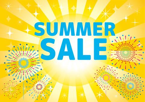 Summer sale flyer Banner advertisement background Wallpaper material