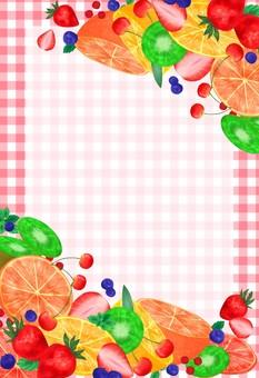 Fruit frame pink