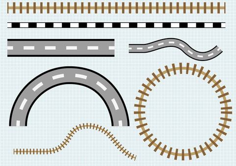 Simple road, track (material of map)