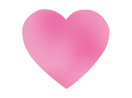Big heart pink