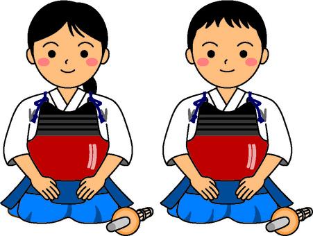 Kendo big child seiza 1