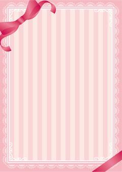 Cute striped ribbon background