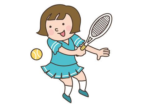 人物/子供/テニス