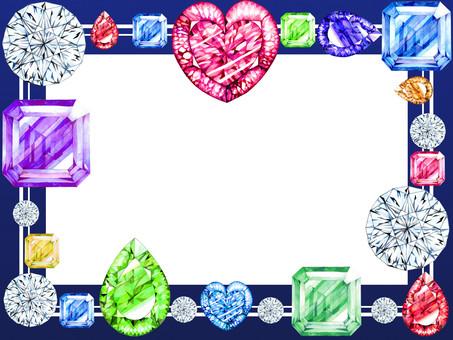 Bubbly jewel frame