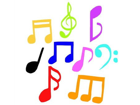 Musical note colorful
