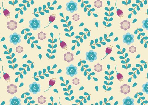 北欧風の花のパターン9
