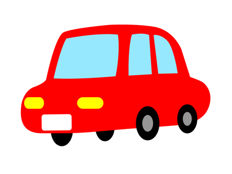 Somewhat red car of handwriting style