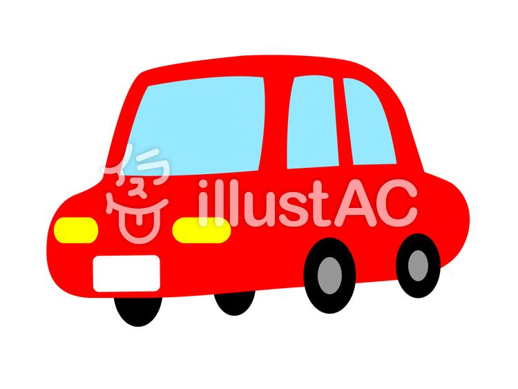 手書き風のほんわか赤い車イラスト No 296768無料イラストなら
