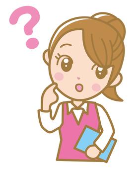 글쎄 여성 핑크