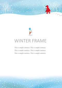 Snowy day background (Vertical)