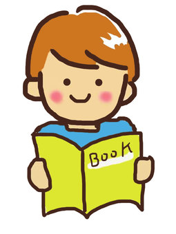 A boy reading a book 4