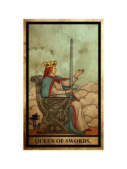 Tarot sword queen