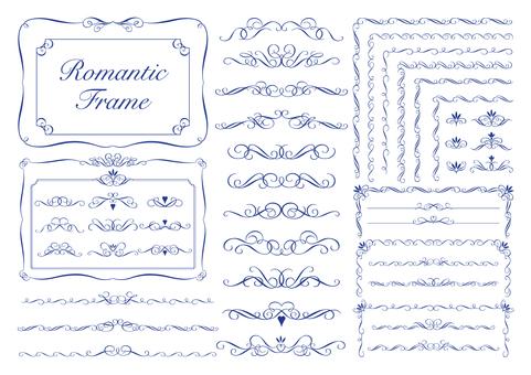 Romantic frame_navy