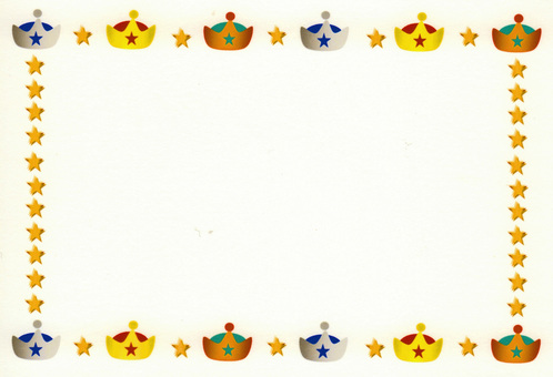 Crown & star frame ③