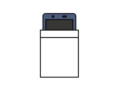 Smartphone in breast pocket