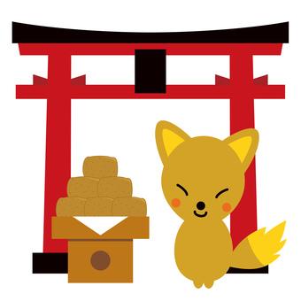Early morning fox shrine