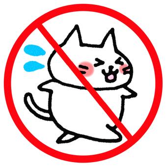 Do not run dangerous! Cat