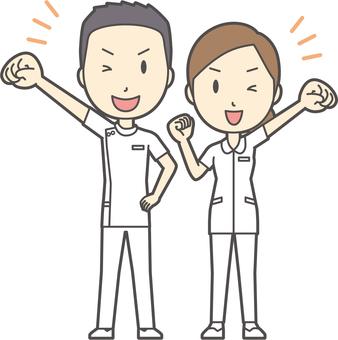 男女セット看護師-022-全身
