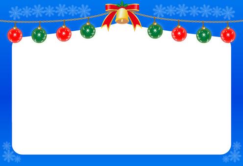 Christmas ornament · frame (blue)