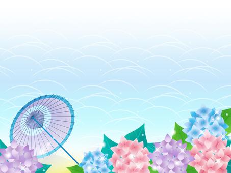 Ajisai / Japanese umbrella / Japanese style frame