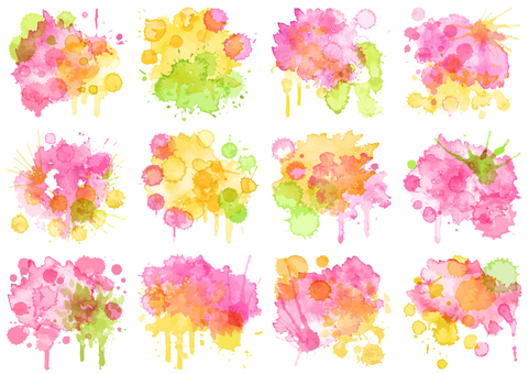 Watercolor material 8 Spring color