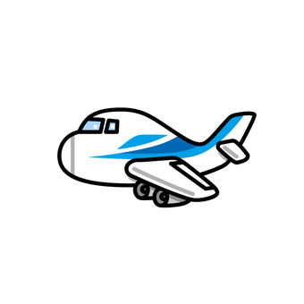 Illustration of an airplane (passenger plane)