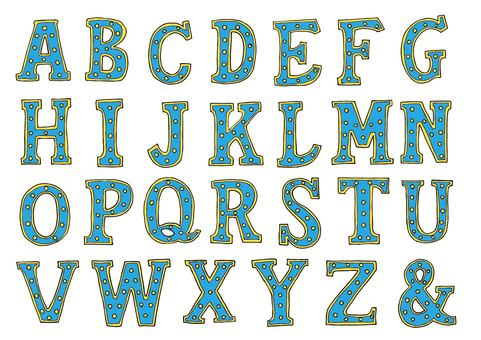 Marquee Letter Alphabet (Blue)