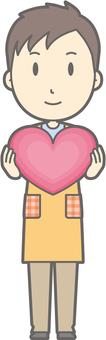 Nursery teacher - Heart - whole body