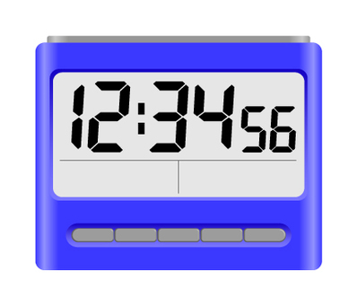 Digital alarm clock blue