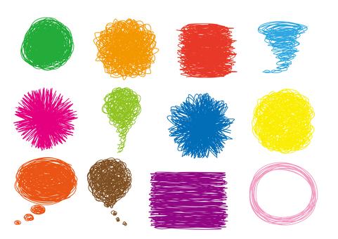 Colorful turning set