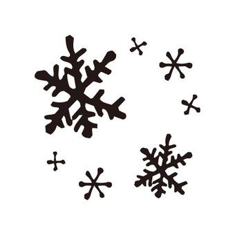 Snow (crystal · black)