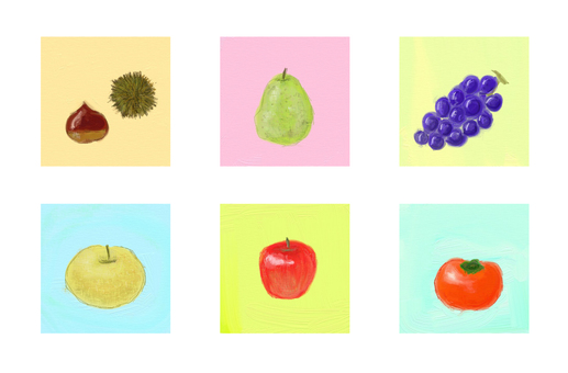 Various autumn fruits