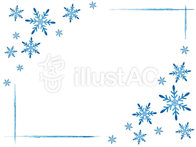 雪 結晶イラスト No 696150無料イラストならイラストac