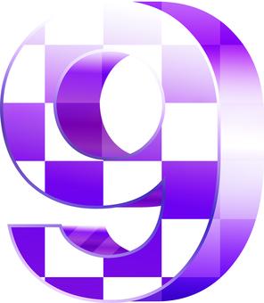 ai checkered three-dimensional figure 9