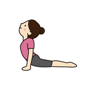 "Woman doing ""Cobra pose"" by yoga"