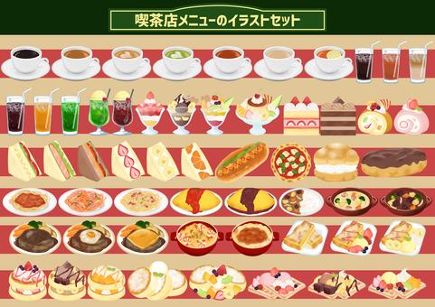 Coffee shop food menu set_112