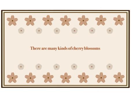Cherry frame ③ Sepia
