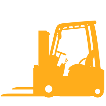 Fork lift silhouette yellow