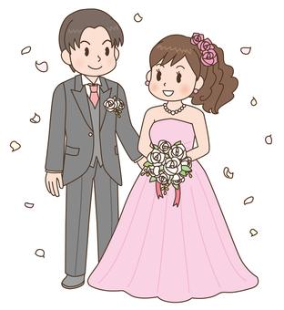 Wedding bride and groom 2