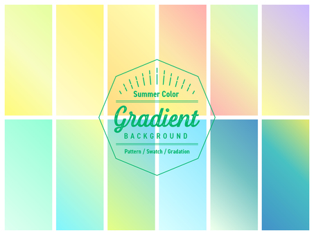 Gradation 3 / swatch / background summer color