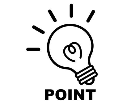 Light bulb electricity point monochrome