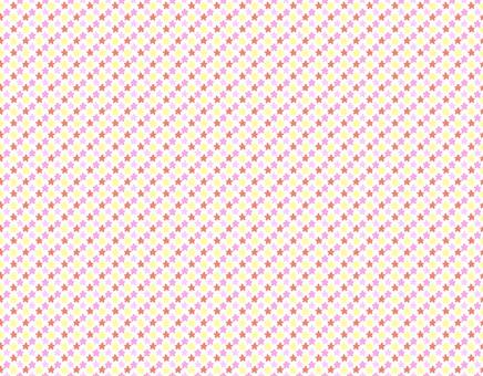 작은 별과 꽃 패턴 (핑크)