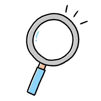 <Discovery> Magnifying glass, cute hand-painted