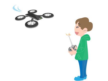 A man who drives a drone