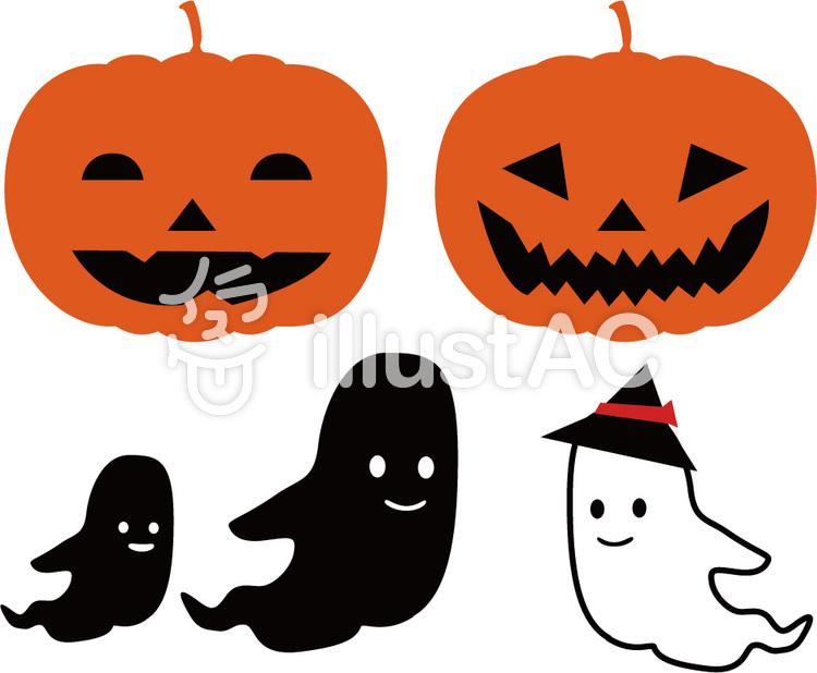 ハロウィン かぼちゃ おばけイラスト No 904033無料イラストなら