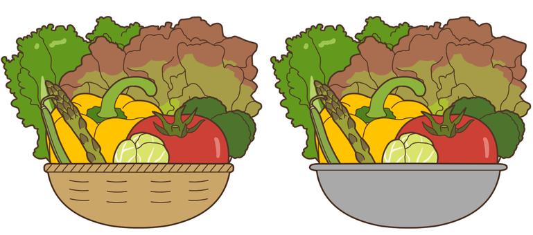 【Stuffed】 Green green yellow vegetables 1/2