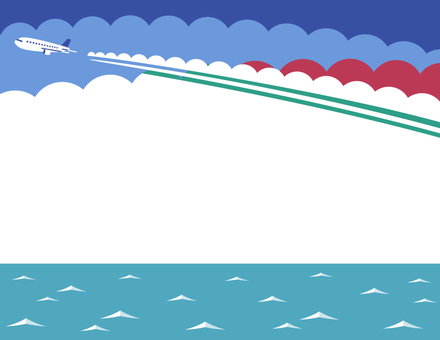 Flight cloud and sea frame (red)