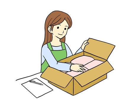A woman packing
